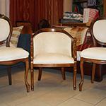Aspirazione,Lavaggio igienizzazione all'ozono delle sedie in tessuto